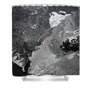 Mercurial Ice Abstract Shower Curtain