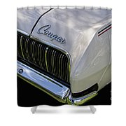 Mercury Cougar Xr7 Emblem Shower Curtain