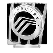 Mercury In Black And White Shower Curtain