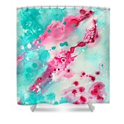 Merging Lanscapes Shower Curtain