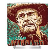 Merle Haggard Pop Art Shower Curtain