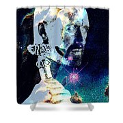 Merlin In The Cosmos Shower Curtain