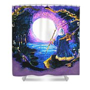 Merlin's Moon Shower Curtain