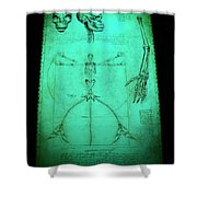 Mermaid Anatomia Shower Curtain