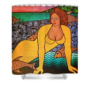 Mermaid And Friends Shower Curtain