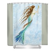Mermaid And Her Seahorse Shower Curtain