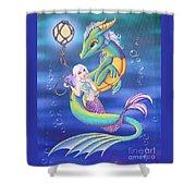 Mermaid And Sea Dragon Shower Curtain