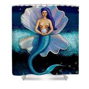 Mermaid Art- Mermaid's Pearl Shower Curtain
