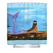 Mermaid Beauty On The Beach Shower Curtain