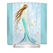 Mermaid In Her Garden Shower Curtain