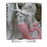 Mermaid In Pink Shower Curtain