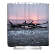 Mermaid In The Surf Shower Curtain