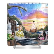 Mermaid Lagoon Shower Curtain