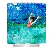 Mermaid Metamorphosis Shower Curtain