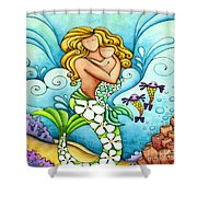 Mermaid Mom Shower Curtain