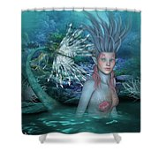 Mermaid Of The Deep Sea 2 Shower Curtain