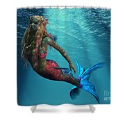 Mermaid Of The Ocean Shower Curtain
