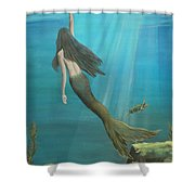 Mermaid Of Weeki Wachee Shower Curtain