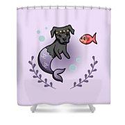 Mermaid Pit Bull 2 Shower Curtain