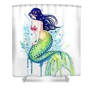 Mermaid Splash Shower Curtain