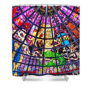Mermaid Stained Glass Art  Shower Curtain
