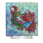 Mermaid Swimming Shower Curtain