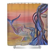 Mermaid Tears Shower Curtain