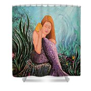 Mermaid Under The Sea Shower Curtain
