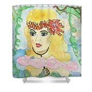 Mermaid With Music  Shower Curtain