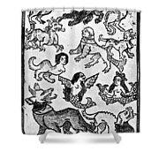 Mermaids, 1475 Shower Curtain