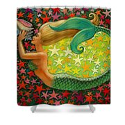 Mermaid's Circle Shower Curtain