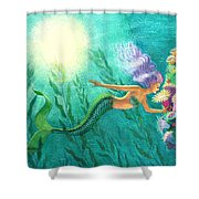 Mermaid's Garden Shower Curtain