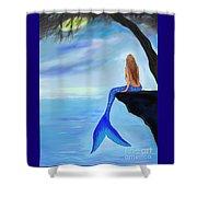 Mermaids Lovely Oasis Shower Curtain