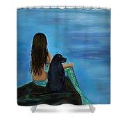 Mermaids Loyal Bud Shower Curtain