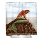Merman Resting Shower Curtain