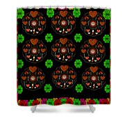 Merry And Happy  Candy With Flair Shower Curtain