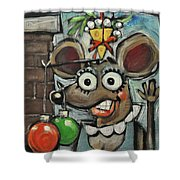 Merry Chrismouse Shower Curtain