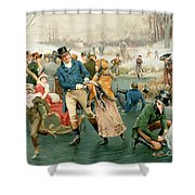 Merry Christmas Shower Curtain by Frank Dadd