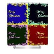 Merry Christmas Pop Art Shower Curtain