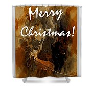 Merry Christmas Reindeer 2 Shower Curtain
