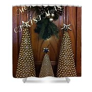 Merry Christmas Trees Shower Curtain