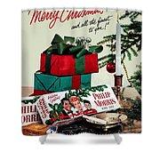 Merry Christmas Vintage Cigarette Advert Shower Curtain
