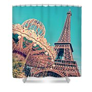 Merry Go Paris Shower Curtain