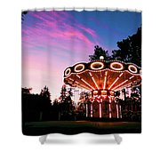 Merry - Go - Round At Sunset Shower Curtain