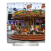 Merry-go-round At The Prater Shower Curtain