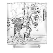 Merry-go-round Horse Shower Curtain