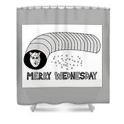 Merry Wednesday Shower Curtain