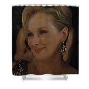 Meryl Streep Receiving The Oscar As Margaret Thatcher  Shower Curtain
