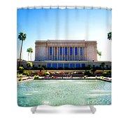 Mesa Temple Pool Shower Curtain