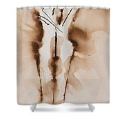 Mesh II  His Divine Love Series No. 1285 Shower Curtain